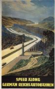 german poster - Speed along German Reich autobahn (1936-1937)